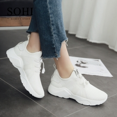 SOHI 1 Pairs Net Yarn Size 35-39 Hollow Tennis Shoes Running Sneakers Athletic Shoes For Women white 35