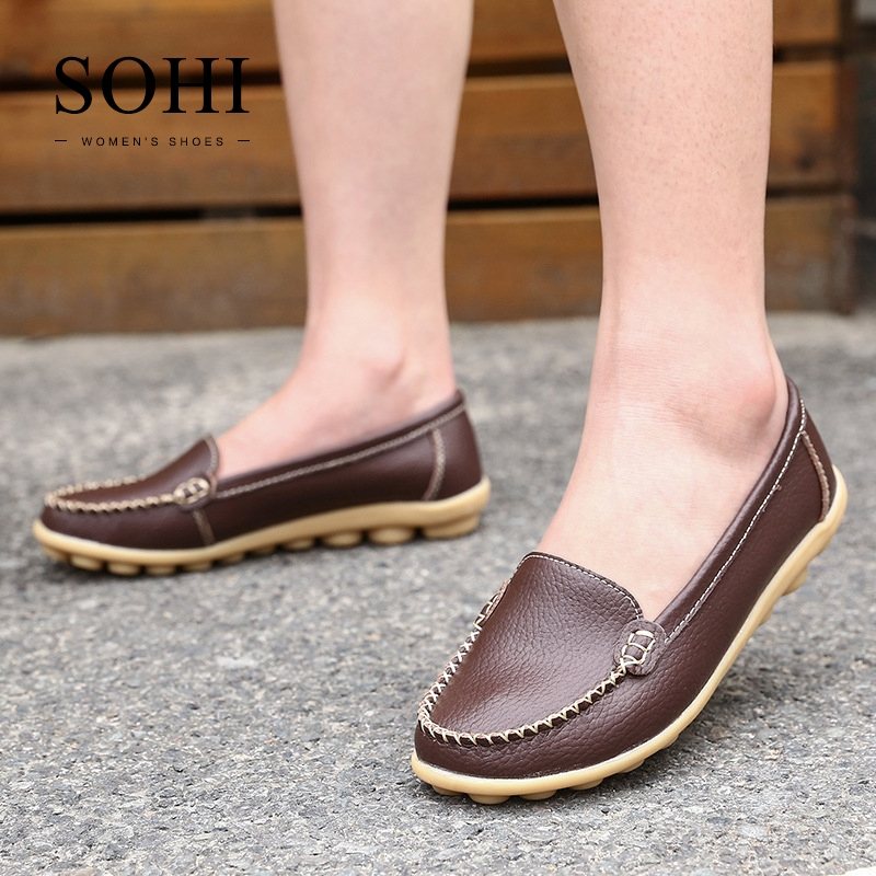 75e8c40ff85 ... Large Size 35-43 Soft Leather Causal Loafers Shoes Moccasins Flats  Driving Shoes brown 39  Product No  1327526. Item specifics  Seller  SKU SOHI-00016 ...