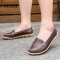 SOHI 1 Pairs Large Size 35-43 Soft Leather Causal Loafers Shoes Moccasins Flats Driving Shoes brown 39
