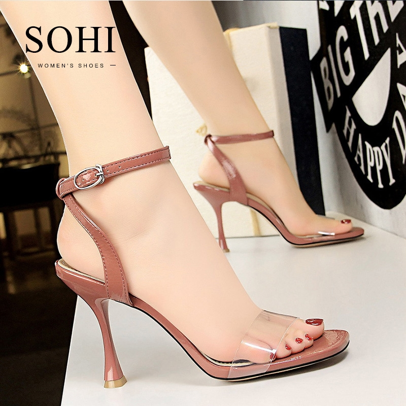 235a5c05af8 SOHI 1 Pairs PU Wine Cup Heel Sexy Strap Heels Sandals Women S Shoes Russet  34  Product No  1612730. Item specifics  Seller SKU SOHI-00269  Brand  SOHI