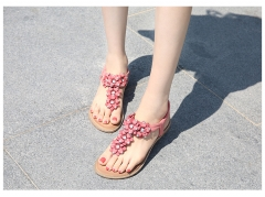 SOHI women Summer new bohemian flat women's sandals large size foreign trade wholesale pink 35