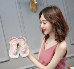 SOHI Summer new arrival flat women sandals bohemian comfort large size for women shoes pink 36