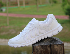 SOHI Mesh Breathable Sneakers Women Lightweight Wear Running Shoes Cross-border Small White Shoes white 36