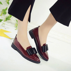 SOHI Women Shoes Loafers Patent Leather Slip Fashion Super Promotion wine red 35