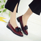 SOHI Women Shoes Loafers Patent Leather Slip Fashion Super Promotion wine red 40