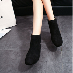 SOHI Round Head Side Zipper Short Tube With Boots  Wind Martin Boots Foreign Trade Women's Shoes black 35