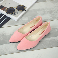 SOHI Lazy Peas Single Shoes flat with Casual Shoes Pointed Shallow Mouth Work Shoes pink 40