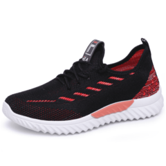 SOHI 2019 new women's sports style single shoes running shoes autumn net shoes black 37