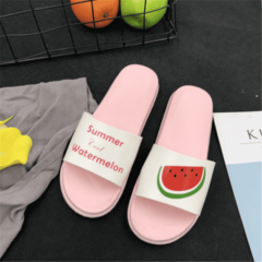 SOHI Fruit Slippers Indoor Flat Bottom Drag Candy Color Small Fresh Sandals and Slippers pink 40