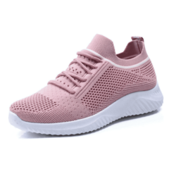 SOHI Breathable wild sports women's shoes ulzzang casual sports shoes pink 39