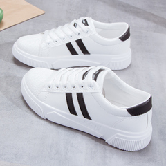 SOHI Breathable casual shoes flat bottom shoes women's shoes athletic shoes black 35