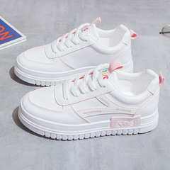 SOHI Women fashion white shoes girl sport shoes student  thick soled casual shoes pink 35