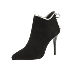 SOHI New women Martin boots lady  high heels women  light-colored  boots black 34