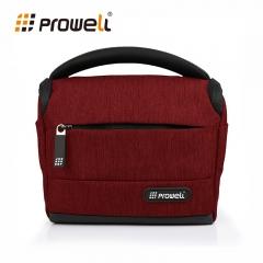 Camera Bag Multi-Function Waterproof DSLR Camera Flax Photography Handbag Shoulder Bag  DSLR Camera red