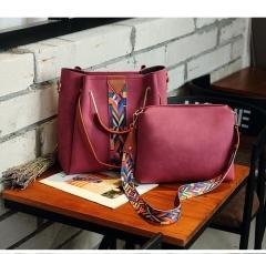 Women Messenger Bags Leather Casual Tassel Handbags Female Designer Bag Vintage Big Size wine red one size