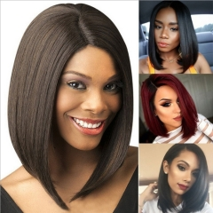 Women's Wigs Hair Straight Black Bob Wig Short For Women Black Heat Resistant Hairpieces dark brown 36