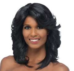 ON SALE...Wig long wavy hair loose wave wig Black gradient wigs caps as the picture one size black free size