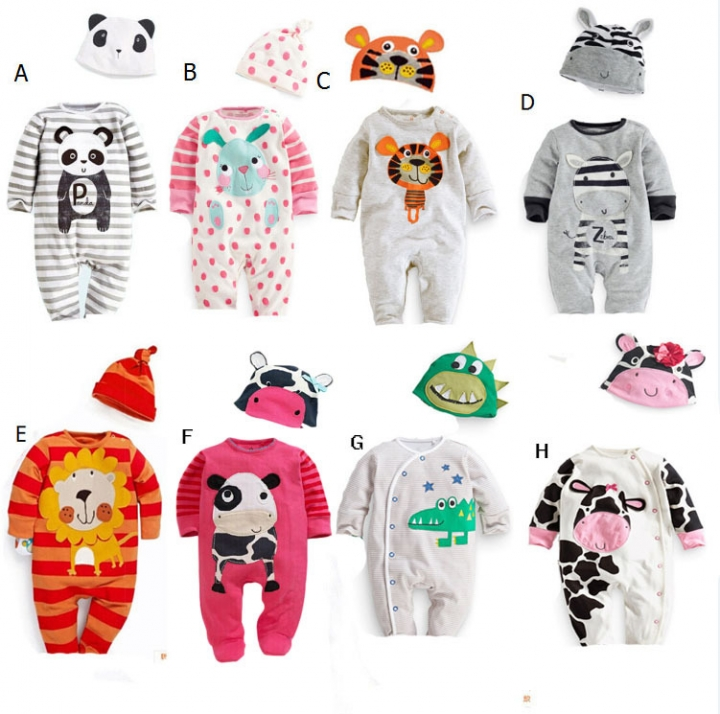2c544557f Kilimall  ON SALE...Fashion Cartoon Animal Baby Romper Jumpsuit ...