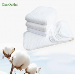 10 Pcs Baby Nappies Reusable Baby Infant Newborn Cloth Diaper Nappy Liners 3 Layers Cotton hot sale as picture 32*12cm
