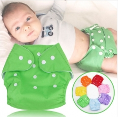1Pc Cotton Reusable Nappies Soft Covers Baby Diapers Adjustable Training Waterproof Cloth Diaper blue free size