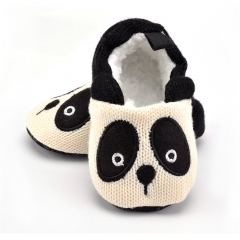 Adorable Infant Slippers Toddler Baby Boy Girl Knit Crib Shoes Cute Cartoon Anti-slip Prewalker white s(11cm/4.33