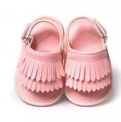 Baby Sandals Newborn Baby Girl Sandals Summer Baby Shoes Casual Fashion Sandals For Girls PU pink s(11cm/4.33