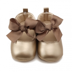 Baby Girl Shoes Riband Bow Up PU Leather Princess Baby Shoes Walkers Newborn Moccasins For Girls red s(11cm/4.33