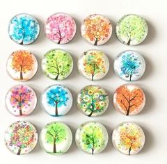 Fresh Tree Crystal Glass fridge magnet Cartoon message sticker refrigerator magnet Kitchen Color random 3pcs/lot
