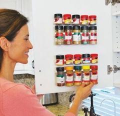 Plastic Store Home Kitchen Organizer Stick Spice Rack Storage Gripper Door Hooks 4PCS/SET as picture