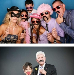 21PCS Funny Photo Booth Props Hat Mustache On A Stick Wedding Favors Birthday Party Decoration as picture one size