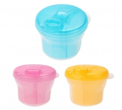1pcs 3 Layer Rotary Milk Powder Box Safety Storage  Container  Portable Tank Baby Food Storage pink as picture