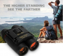 Telescope 30x60 Folding Binoculars with Low Light Vision for outdoor bird watch travell hunt camp Black with red film one size
