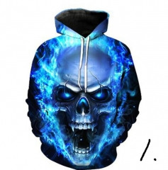 Hot hoody 3d Skull Hoodies Fashion Winter Spring Sportswear Hip Hop Tracksuit Hooded Sweatshirt 2019 01 S