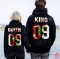 2019 KING Queen Crown Print Unisex Autumn Hoodies Slim Sweatshirt for Couple Lovers Hooded Pullovers 5# queen 2xl