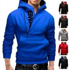 Assassins Creed Hoodies Men Letter Printed Hoodie Sweatshirt Long Sleeve Hooded Jacket Sportswear black red 3xl
