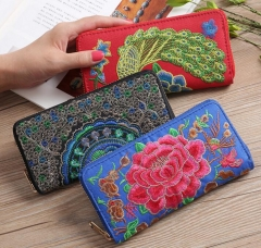 Wallet Women Vintage Fashion Top Quality Wallet Female Money Bag Small Zipper Coin Pocket Brand Hot red circle 19*9.5*3cm