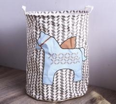 Laundry Basket Storage 40*50cm Large Basket For Toy Washing Basket Dirty Clothes Sundries Storage ear horse