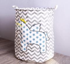 Laundry Basket Storage 40*50cm Large Basket For Toy Washing Basket Dirty Clothes Sundries Storage Star horse
