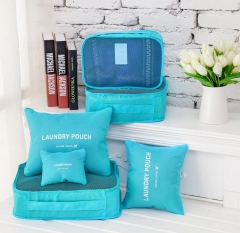 6PCs/Set Travel Storage Bag Clothes Tidy Pouch Luggage Organizer Portable Container Waterproof orange