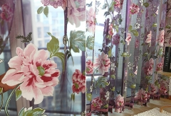 peony Curtains yarn Tulle Curtain Customize Curtains For Living Window Curtain Screening Home Decor cream-colored 1*2m  Wear rod