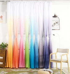 Window Curtain Living Room Modern Home Goods Window Treatments Polyester 3d Curtains For Bedroom orange 1*2m