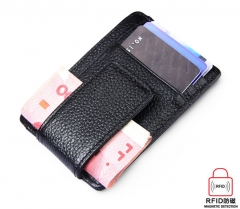 Fashion Wallet Money Clip Magnet Clip Ultrathin Pocket Clamp Credit Card Case Mini Creative Wallet black one size