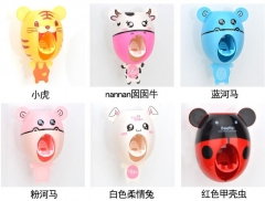 1 Set Creative Automatic Plastic Lazy Toothpaste Dispenser Squeezer Bathroom Bathing Accessories white rabbit one size