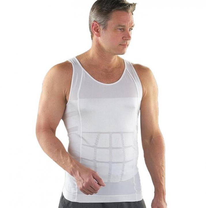 c782414387 Men Slimming Underwear Body Shaper Waist Cincher Corset Men Shaper Vest  Body Belly Waist Shapewear white