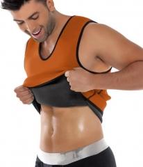 Slimming Belt Belly Men Vest Body Shaper Neoprene Abdomen Fat Burning Shaperwear Corset Weight Loss blue s