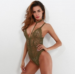 Porn Sexy Lingerie Hollow Out Deep V Bandage Lace Dress Erotic Lingerie Sexy Underwear Nightwear red s