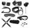 Sex shop Bondage Set Sexy toys handcuff Whip female collar love sex intimate sex products for adults black 10pcs