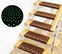 Home Luminous Self-adhesive Non-slip Floor Staircase Carpets Claw Pattern Glow Treads Protector Mats green 55*22*4.5( 5pcs)