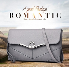 Women Evening Bag 2019 Party Banquet Glitter Bag Girls Wedding Clutches Handbag Chain Shoulder Bag gray as picture