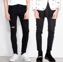 Skinny Jeans Men Stretch Slim Denim Jeans Casual Cotton Washed Designer Jeans Masculino Jean Homme black 27